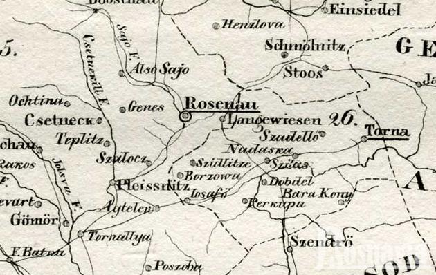 Rozsnyó és környéke - 1828